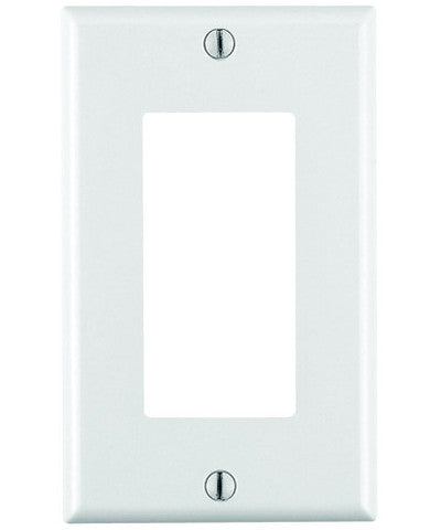 1-Gang Decora/GFCI Device Decora Wall Plate, Standard Size, Thermoset, Device Mount, 80401 - Leviton - 1