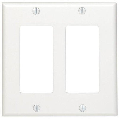 2-Gang Decora/GFCI Device Decora Wall Plate, Standard Size, Thermoset, Device Mount, 80409 - Leviton - 1