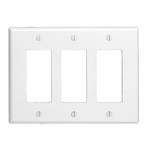 3-Gang Decora/GFCI Device Decora Wallplate, 80611