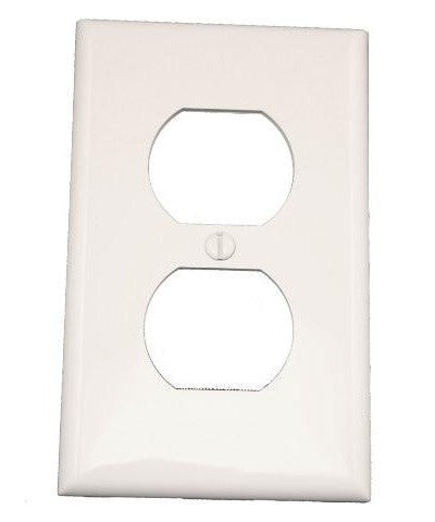 1-Gang Duplex Device Receptacle Wall Plate, Standard Size, Thermoplastic Nylon, Device Mount, 80703 - Leviton - 1