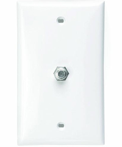 Standard Video Wall Jack, F Connector, White, 80781-W - Leviton