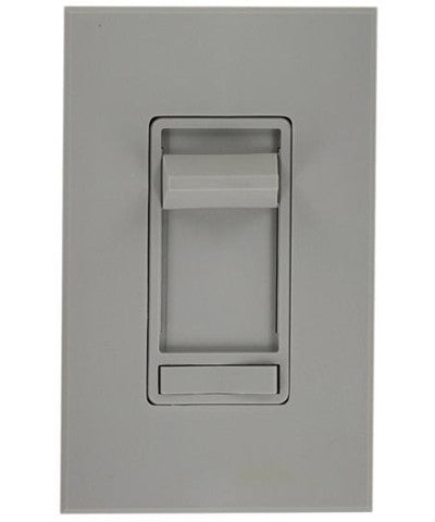Renoir Preset Electro-Mechanical Incandescent Slide Dimmer, 800W, 3-Way, Narrow Fin, Gray, 80800-3GY - Leviton