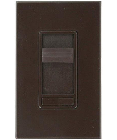 800W, 3-Way, Renoir Preset Electro-Mechanical Incandescent Slide Dimmer, Narrow Fin, Brown, 80800-3 - Leviton