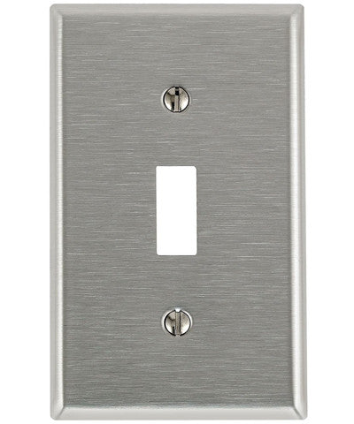 1-Gang Toggle Device Switch Wall Plate, Standard Size, Device Mount, Stainless Steel, 84001 - Leviton