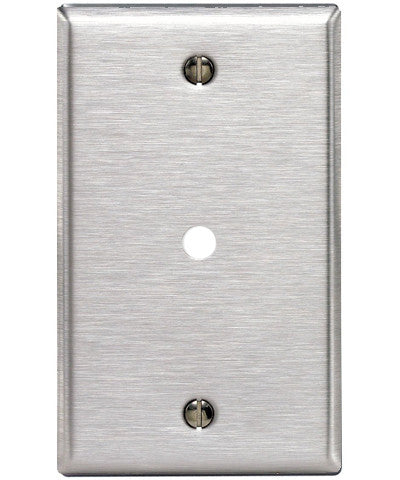 1-Gang .312-Inch Hole Device Telephone/Cable Wall Plate, Box Mount, Stainless Steel, 84013-40 - Leviton