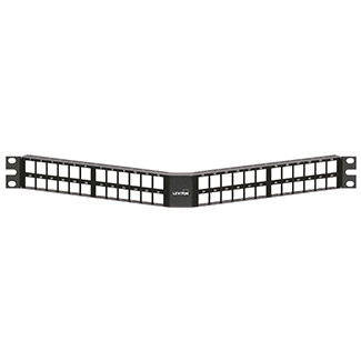 QuickPort Angled High-Density Patch Panel, 48-Port, 1RU, 49256-D48