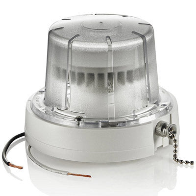 LED Ceiling Lampholder with Pull Chain, 10W Bulb and Bulb Guard, 9852-LED
