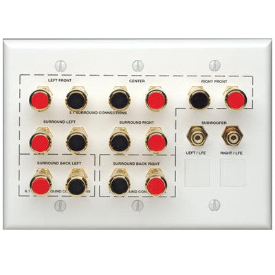 3-Gang Theater Wallplate, White, AEHTK - Leviton