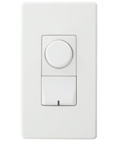 Renoir II Rotary, Ballast 2-Wire Control, Standard Heat Sink Dimmer, Narrow, 5 A, White, AWRMG-XAW - Leviton
