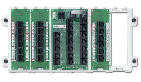 18-Port Structured Media Panel, White, 47603-18P - Leviton
