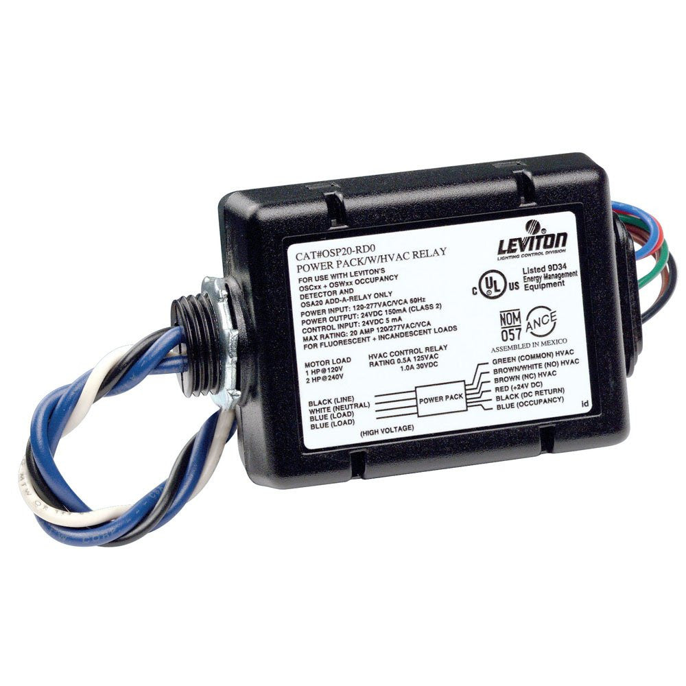 Power Pack For Occupancy Sensor With Hvac Relay 15 Amp Fl