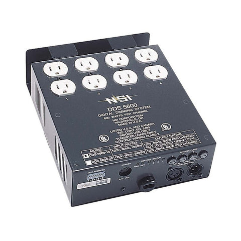4 Channel, 600 Watt/Channel, 15 Amp Power Supply Cord Dimmer/Relay System, Micro-Plex And 0-10V, DMX installed, 240V, N5600-D09 - Leviton
