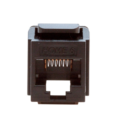 Home 6 Snap-In Connector, T568A Wiring, Available in 7 Colors, 61HOM - Leviton - 1