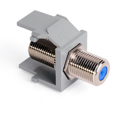 QuickPort F-Type Adapter, Nickel-Plated, Available in 6 Colors, 41084 - Leviton - 1