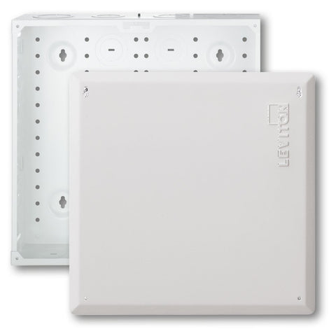 SMC Structured Media Enclosure with Cover, 14-Inch, White, 47605-140 - Leviton