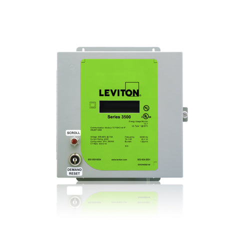 VerifEye Series 3500 Modbus TCP/BACnet IP Indoor Meter Kit with 3 Solid Core CT's, 3KUMT-XSM - Leviton - 1