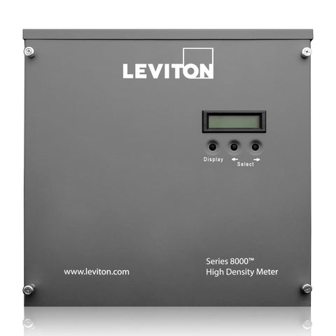 VerifEye Series 8000 Commercial & Industrial Multiple Point High Density Smart Meter, Phase Config 12x2 with Termination Enclosure, S8UTS-122 - Leviton - 1