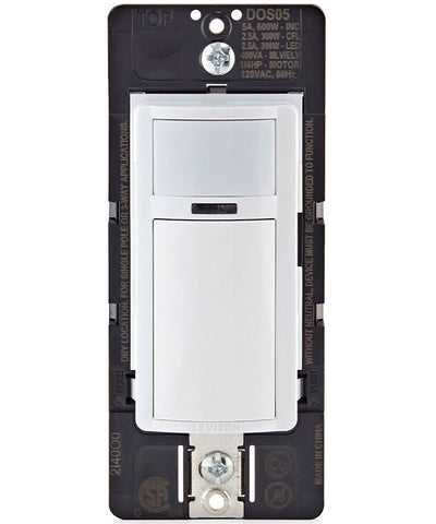 Decora Motion Sensor In-Wall Switch, Auto-On, 5A, Single Pole or 3-Way, DOS05-1LZ