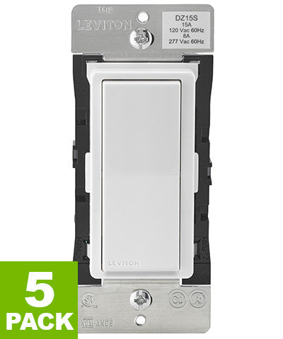 Decora Smart Switch with Z-Wave Plus Technology, DZ15S-1BZ - 5-Pack