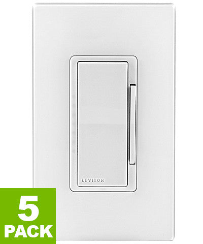 Decora Smart 600W Dimmer with Z-Wave Plus Technology, DZ6HD-1BZ - 5-Pack