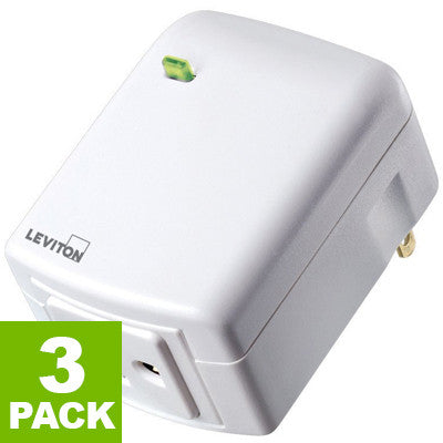 Decora Smart Plug-in Outlet with Z-Wave Technology, DZPA1-2BW - 3-Pack - Leviton
