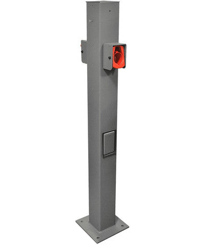 Evr-Green® EVSE Pedestal Mounting Pole and Base, EVPED-2 - Leviton