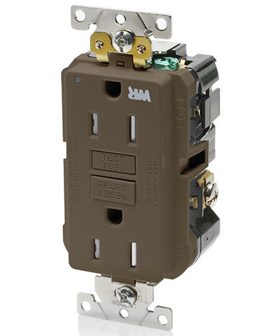 15 Amp, 125 Volt, Extra-Heavy Duty, Industrial Grade, Weather/Tamper-Resistant Duplex Self-Test GFCI Receptacle, G5262-WT - Leviton - 1