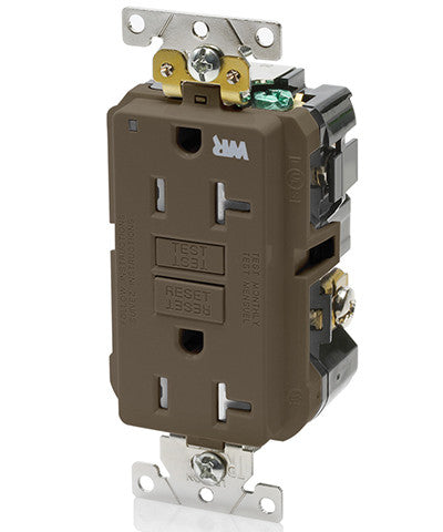 20 Amp, 125 Volt, Extra-Heavy Duty, Industrial Grade, Weather/Tamper-Resistant Duplex Self-Test GFCI Receptacle, G5362-WT - Leviton - 1