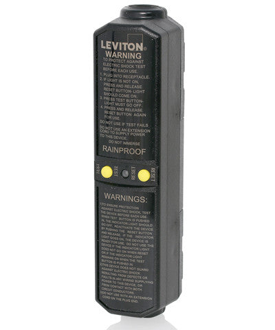 20A, Manual Reset In-Line User Attachable GFCI Plug, Grounded, GCM20 - Leviton