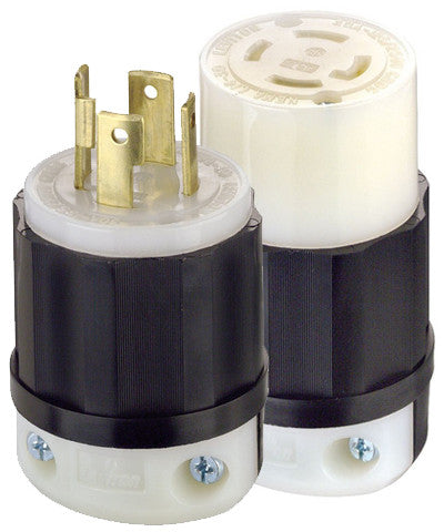 Generator 30 Amp Locking Plug and Connector Kit - Leviton - 1