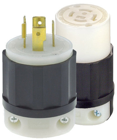 Generator 20 Amp Locking Plug and Connector Kit - Leviton - 1
