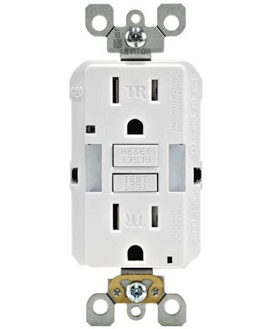 Self-Test SmartlockPro Slim GFCI Tamper-Resistant Receptacle with Guidelight and LED Indicator, 15 Amp, GFNL1 - Leviton - 1