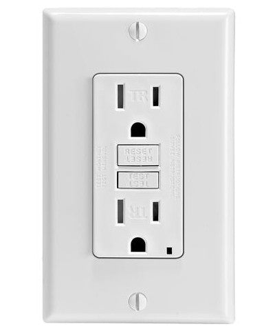SmarTest Self-Test SmartlockPro Slim GFCI Tamper-Resistant Receptacle with LED Indicator, 15-Amp, GFTR1 - Leviton - 1