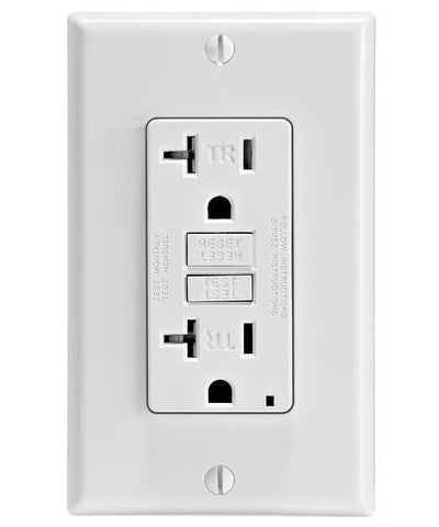SmarTest Self-Test SmartlockPro Slim GFCI Tamper-Resistant Receptacle with LED Indicator, 20 Amp, GFTR2 - Leviton - 1