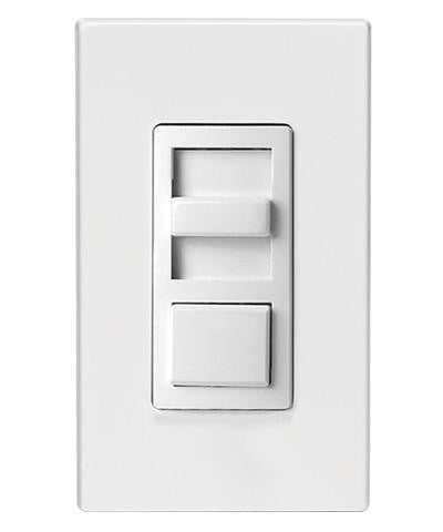 IllumaTech Fluorescent Slide Dimmer, White, IP710-LFZ - Leviton