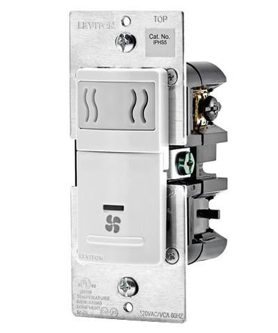 Humidity Sensor and Fan Control, Single Pole, IPHS5 - Leviton - 2
