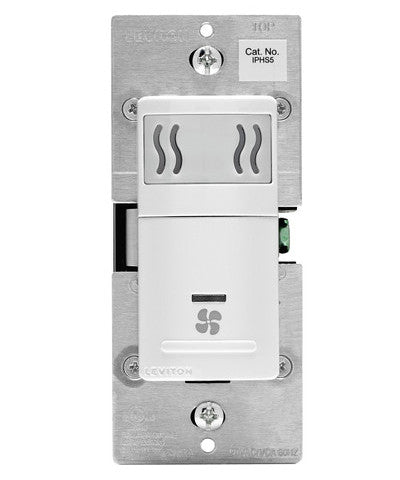 Humidity Sensor and Fan Control, Single Pole, IPHS5 - Leviton - 1