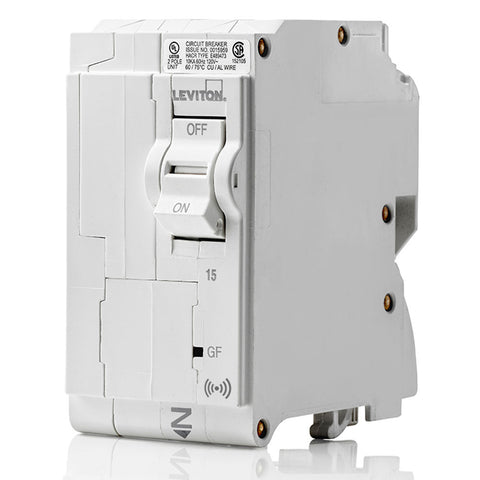 15A Smart GFCI 2-Pole Branch Circuit Breaker, LB215-GS
