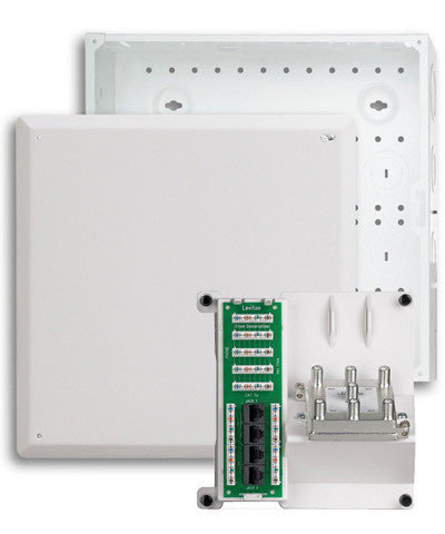 "14"" Structured Media Enclosure with Cover and Combo Bracket Kit - Leviton"