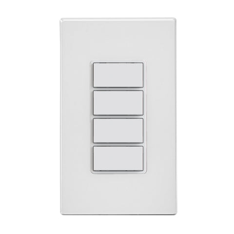 Decora Smart Wi-Fi 4 Button Controller, No Hub Required, White, DW4BC-1BW