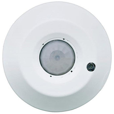 ODC Series 450 Sq. Ft. Passive Infrared Ceiling-Mount Occupancy Sensor, 120-277 Volt, White, ODC04-IDW - Leviton