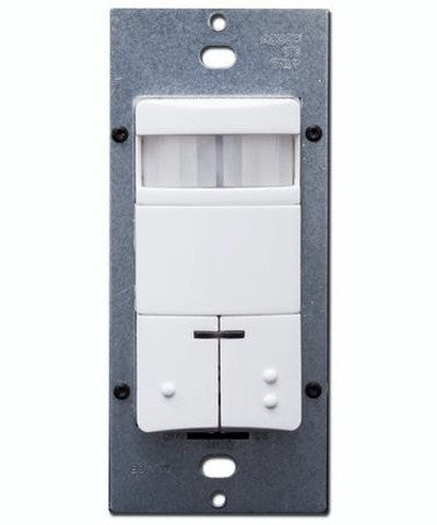 Dual-Relay, Decora Passive Infrared Wall Switch Occupancy Sensor, 180 Degree, 2100 sq. ft. Coverage, Various Colors Available, ODS0D-ID - Leviton - 1