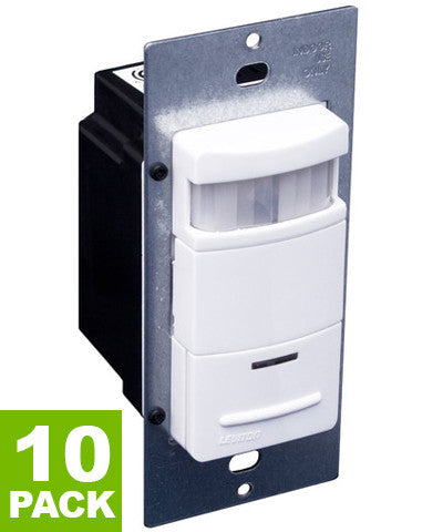Decora Passive Infrared Wall Switch Occupancy Sensor, Various Colors Available, 10-Pack, ODS10-ID - Leviton - 1