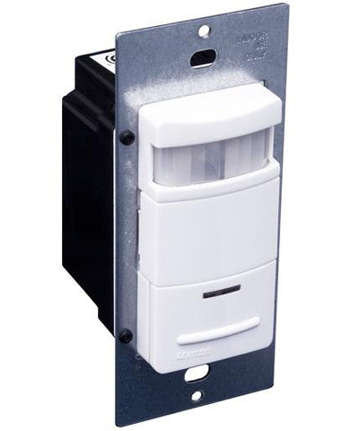 Decora Passive Infrared Wall Switch Occupancy Sensor, 180 Degree, 2100 sq. ft. Coverage, Self-Adjusting, Various Colors Available, ODS15-ID - Leviton - 1