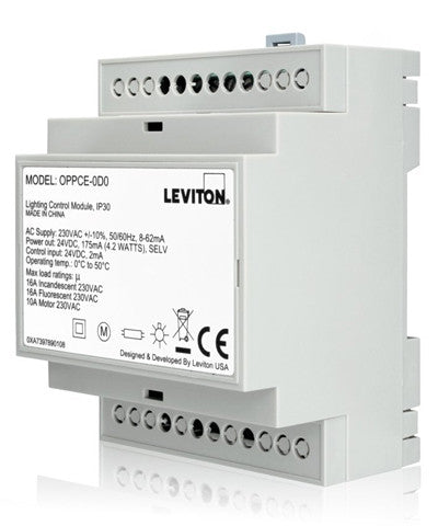 20A CE Power Pack for Occupancy Sensors, DIN Rail Mount Module, OPPCE-D0 - Leviton