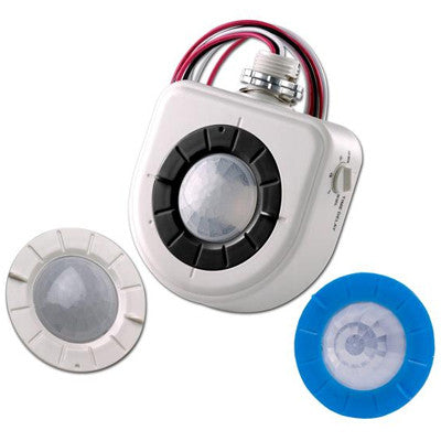 Fixture-Mounted PIR High-Bay Sensor with 3 Interchangeable Lenses, White, OSFHU-ITW - Leviton