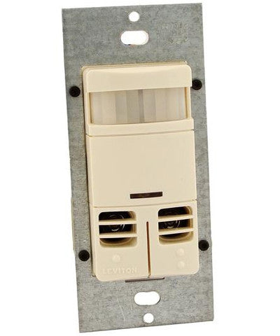 Dual-Relay, No Neutral, Multi-Technology Wall Switch Sensor, 2400 sq. ft. Major Motion Coverage, 400 sq. ft. Minor Motion Coverage, Light Almond, OSSMD-GDT - Leviton