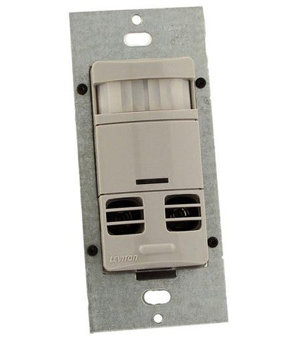 Ultrasonic/Infrared, Multi-Technology Wall Switch Sensor, No Neutral, 2400 sq. ft. Major & 400 sq. ft. Minor Motion Coverage, OSSMT-GD - Leviton - 1