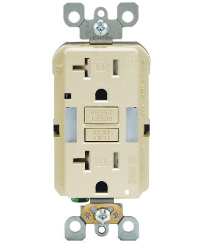 Self-Test SmartlockPro Slim GFCI Tamper Resistant Receptacle with Guidelight and LED Indicator, 20-Amp, GFNL2 - Leviton - 1