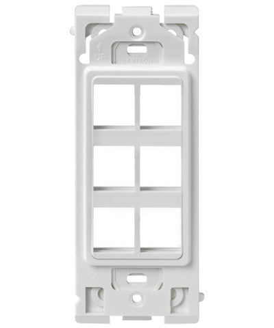 6-Port Renu Insert, White on White, RE640-WW6 - Leviton